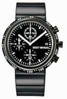 ISSEY MIYAKE TRAPEZOID BLACK STAINLESS STEEL WATCH SILAZ001-Case: Stainless still(black IP)+Aluminum bezel(Black)-Band stainless steel (black IP) Dial color:Black